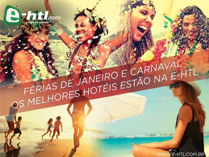 E-HTL anuncia produtos especiais para Férias de Janeiro e Carnaval